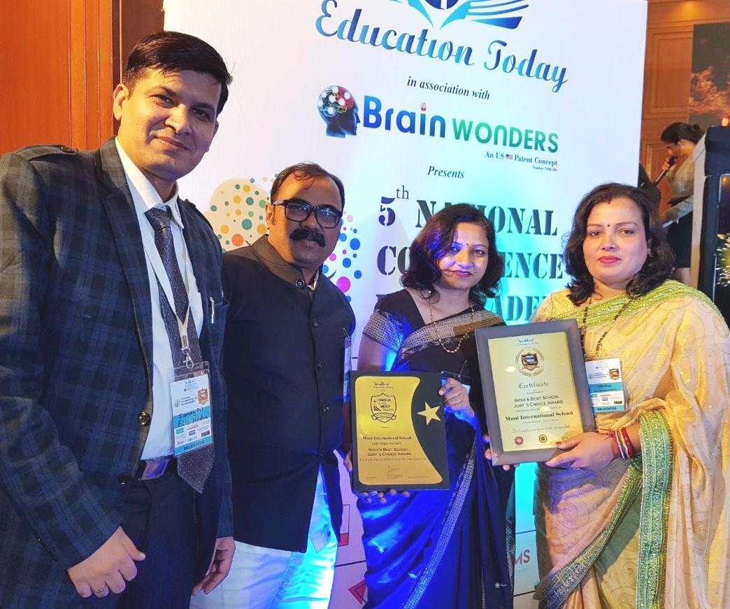 मुनि इंटरनेशनल स्कूल को मिला 2017-18 का इंडियाज़ बेस्ट स्कूल जूरी चॉइस अवार्ड