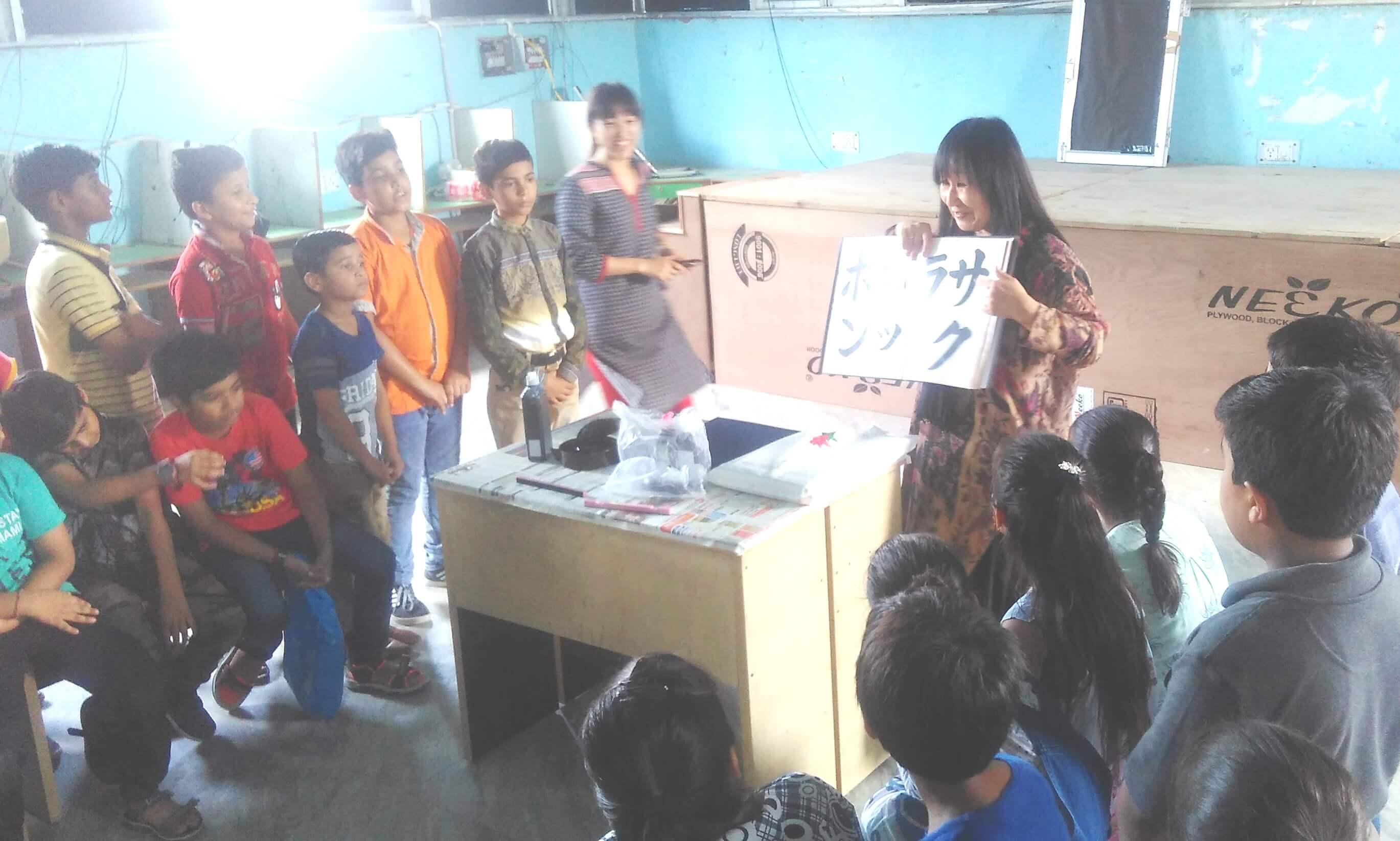 मुनि स्कूल के छात्रों ने सीखी जापान की कैलीग्राफी