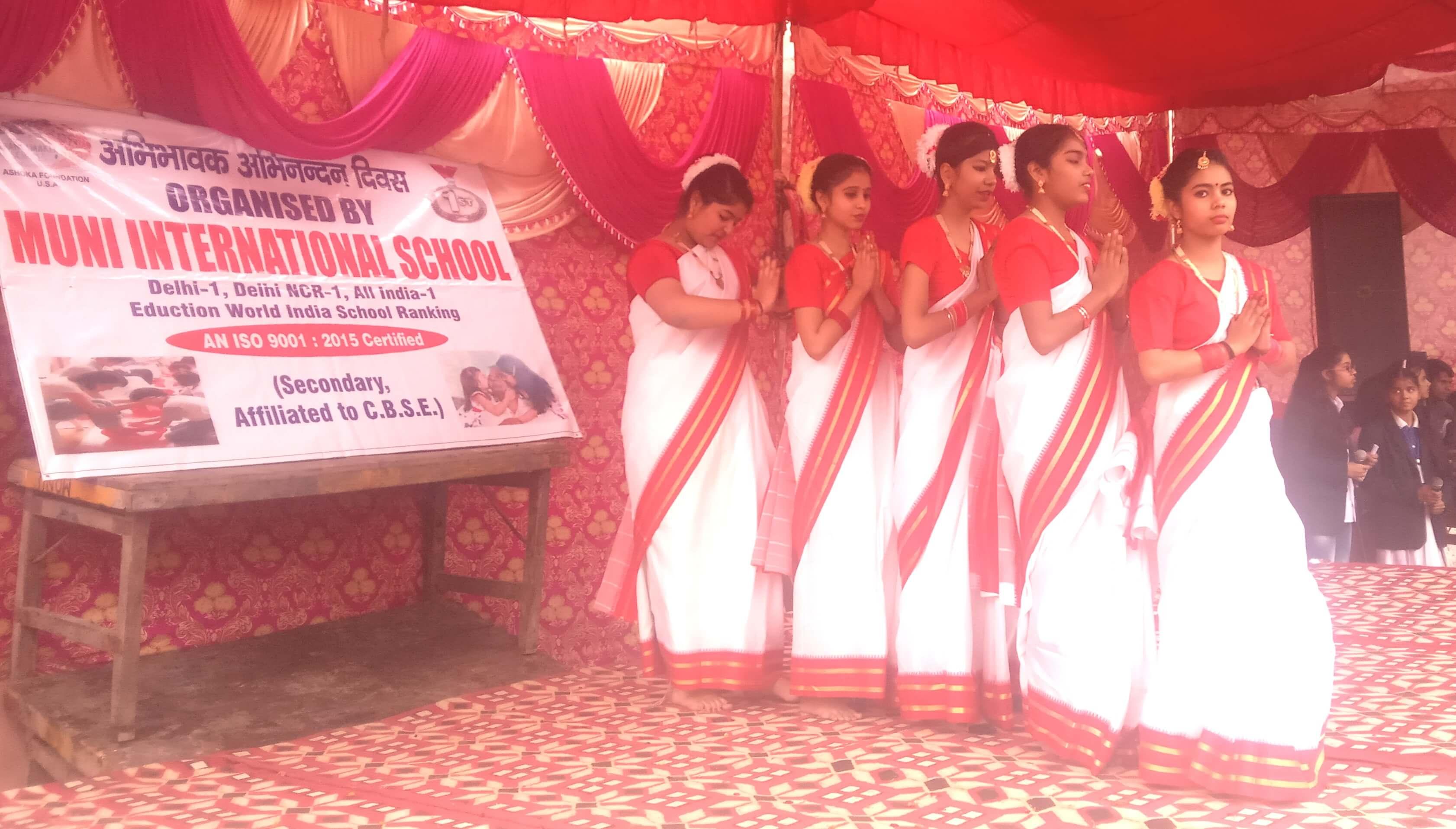 मुनि इंटरनेशनल स्कूल में धूम-धाम से मनाया गया अभिभावक अभिनंदन समारोह