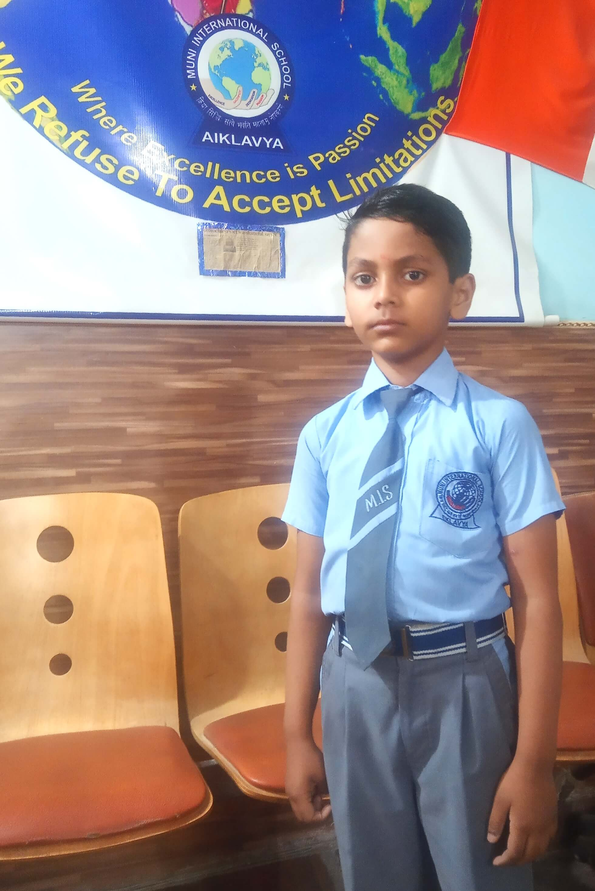 A student of Muni International School, wins second place in the National Olympiad Exam