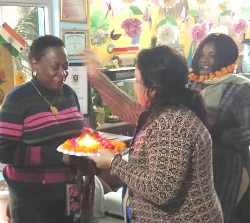 Nigerian delegates visited Delhi's Muni International School