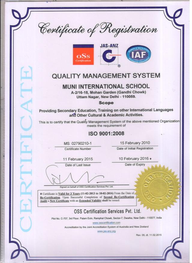 ISO-certificationa